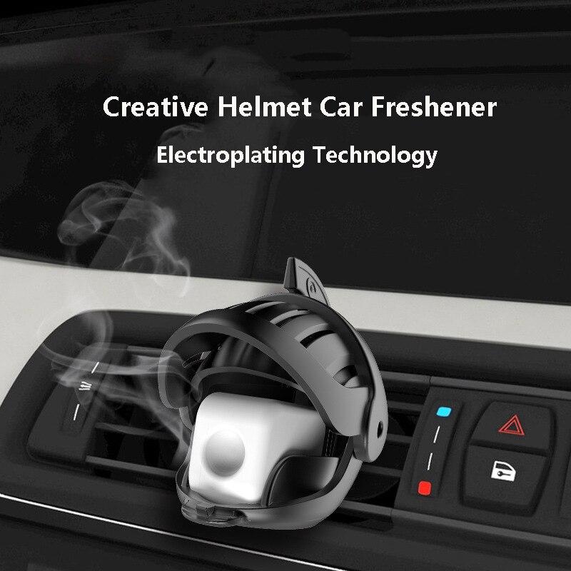 Knight Helmet Car Fragrance Car Air Freshener Auto Car Diffuser Vent Clip Car Perfume Creative Car Interior Decoration
