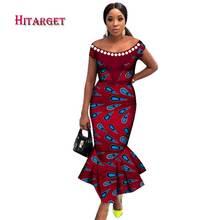 Hitarget 2020 африканские платья для женщин с вырезом лодочкой