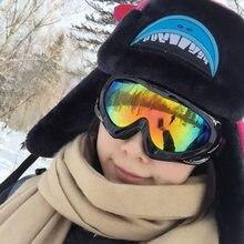 Gogle narciarskie i snowbordowe okulary narciarskie skuter śnieżny sporty zimowe Gogle okulary narciarskie okulary sportowe przeciwmgielne UV podwójny obiektyw