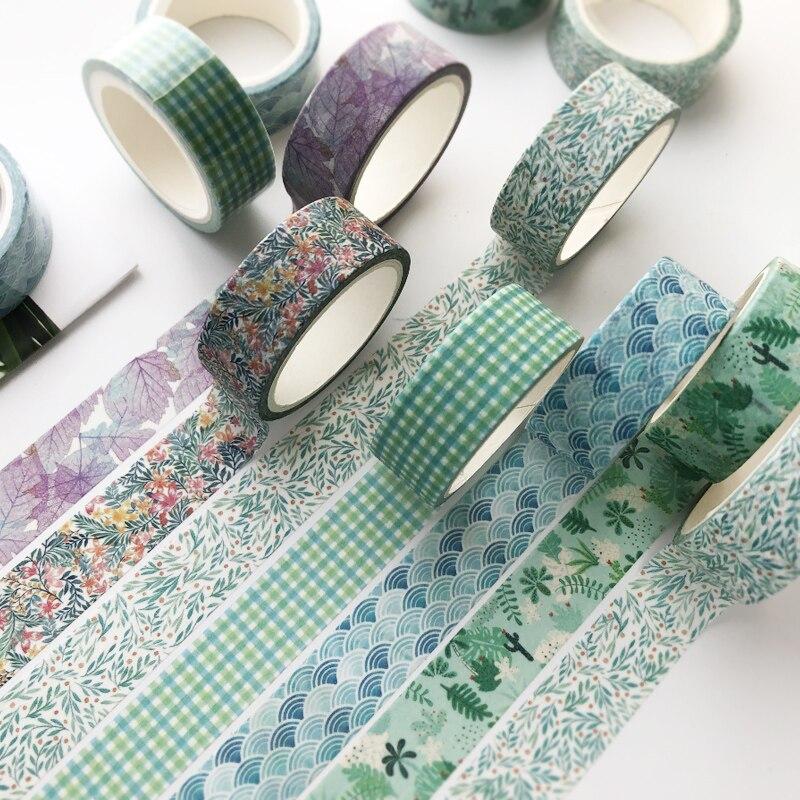 VanYi 1.5 centímetros * 5m Único Rolo Básico Conjunto de Papelaria Coreano Kawaii Washi Tape DIY material de Escritório material Escolar Decoração Fita Adesiva