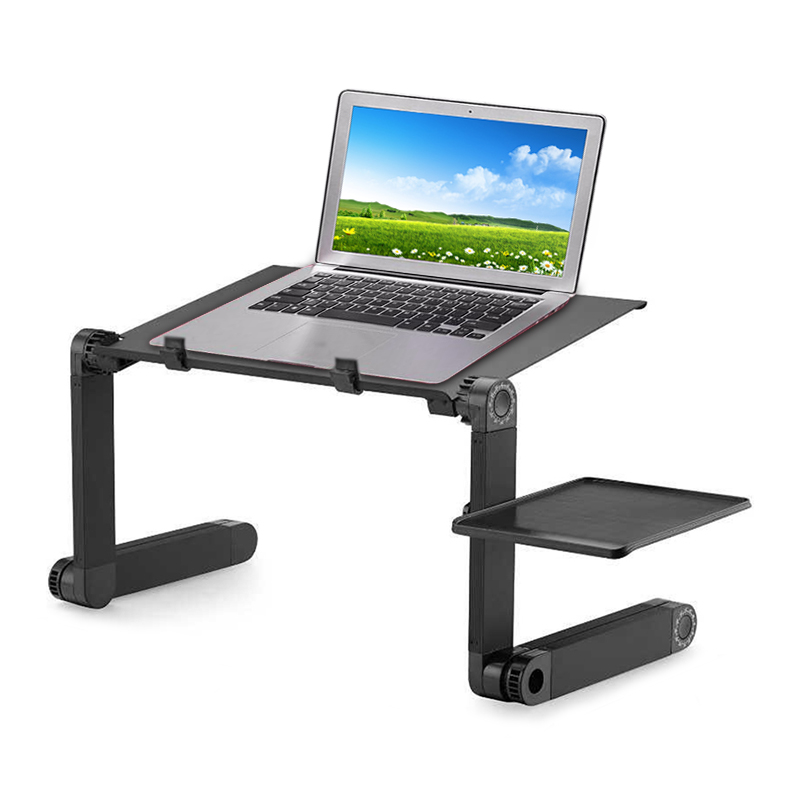 Foldable Adjustable <font><b>Folding</b></font> <font><b>Table</b></font> for Laptop Desk Computer mesa para <font><b>Notebook</b></font> Stand Tray For Sofa Bed Black image