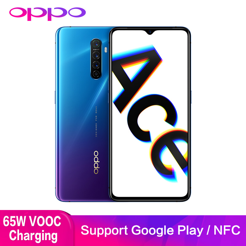 OPPO Reno Ace Support NFC OTG Google Play 90HZ Game Screen 8GB 128GB 48.0MP 65W Super VOOC GPS Double WIFI Mobile Smart Phone