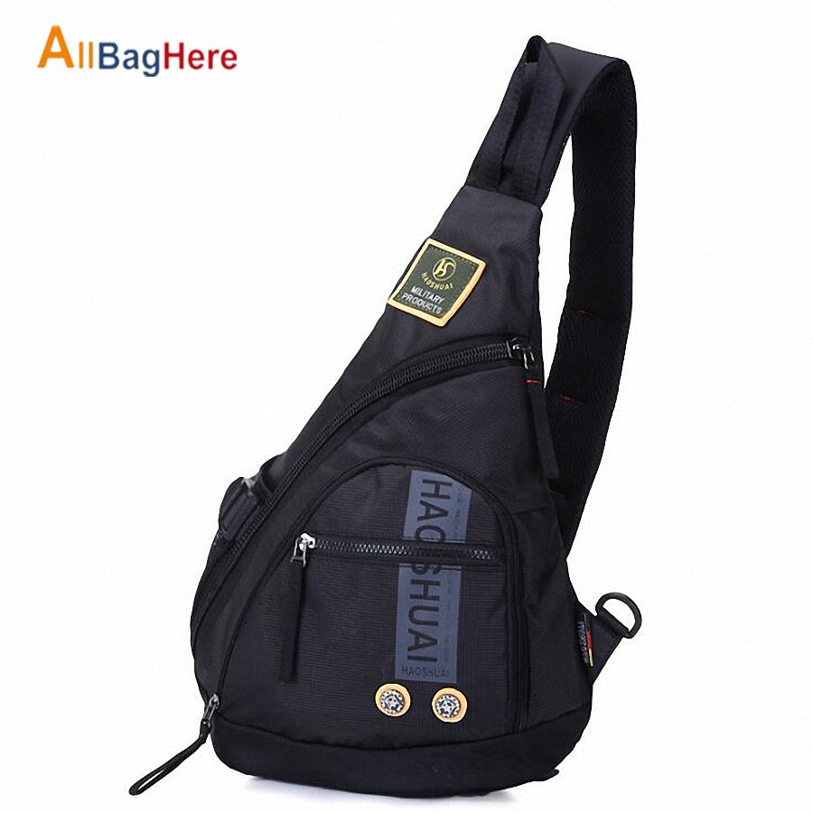 Men Sports Chest Bag Waterproof Nylon Quality Large Capacity Travel Crossbody Sling Bags Mountaineering Cycling Mobile Phone Bag