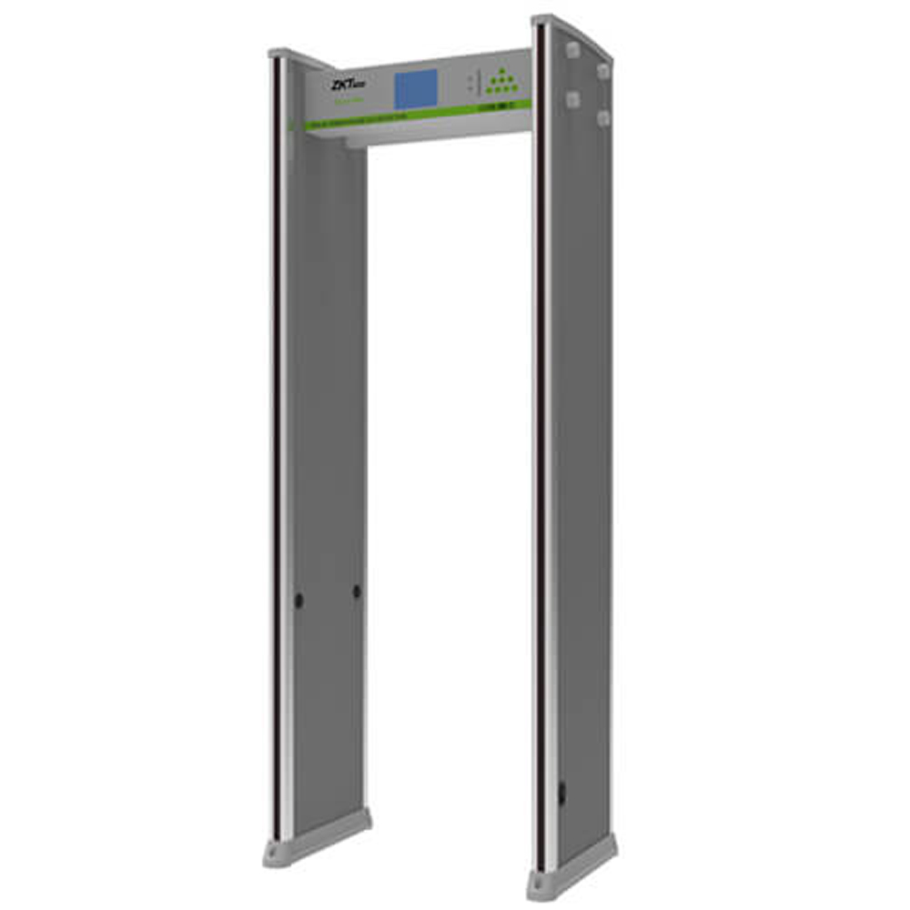 ZK D83180S 5.7'' LCD Temperature Detection Door Walk Through Metal Detector Door Scanner Temperature Measurement Security Door