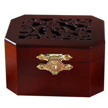 Home Gift Wind Up Kids Music Box Decorative Toys Retro Style Mini Solid Crafts Classic Octagon Wood Made Hollowed Out