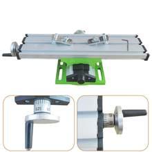Precisão mini mesa bancada torno furadeira de bancada fresadora assistida ferramenta de posicionamento x y-eixo ajustável coordenar mesa torno