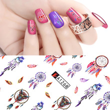 Nail Sticker Water Transfer Decals Charm Slider Adesivo Ongles Autocollant  Nagels Stickers Manicure Tape Nails Art Decorations цена