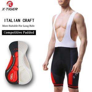 Image 1 - X TIGER 8 Colors Cycling Bib Shorts Summer Coolmax 5D Gel Pad Bike Tights MTB Ropa Ciclismo Moisture Wicking Bicycle Pants