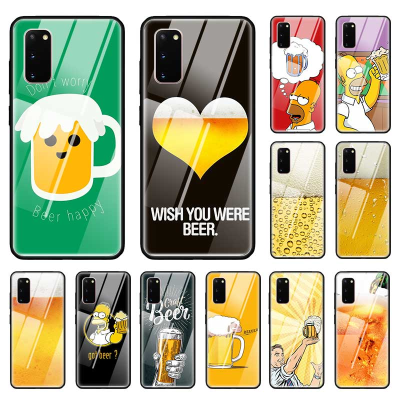 <font><b>Funny</b></font> Beer <font><b>Case</b></font> for <font><b>Samsung</b></font> Galaxy S10 S20 Ultra 5G S10e S9 S8 Plus <font><b>Note</b></font> 8 <font><b>9</b></font> 10 Lite Luxury Glass Phone Coque image