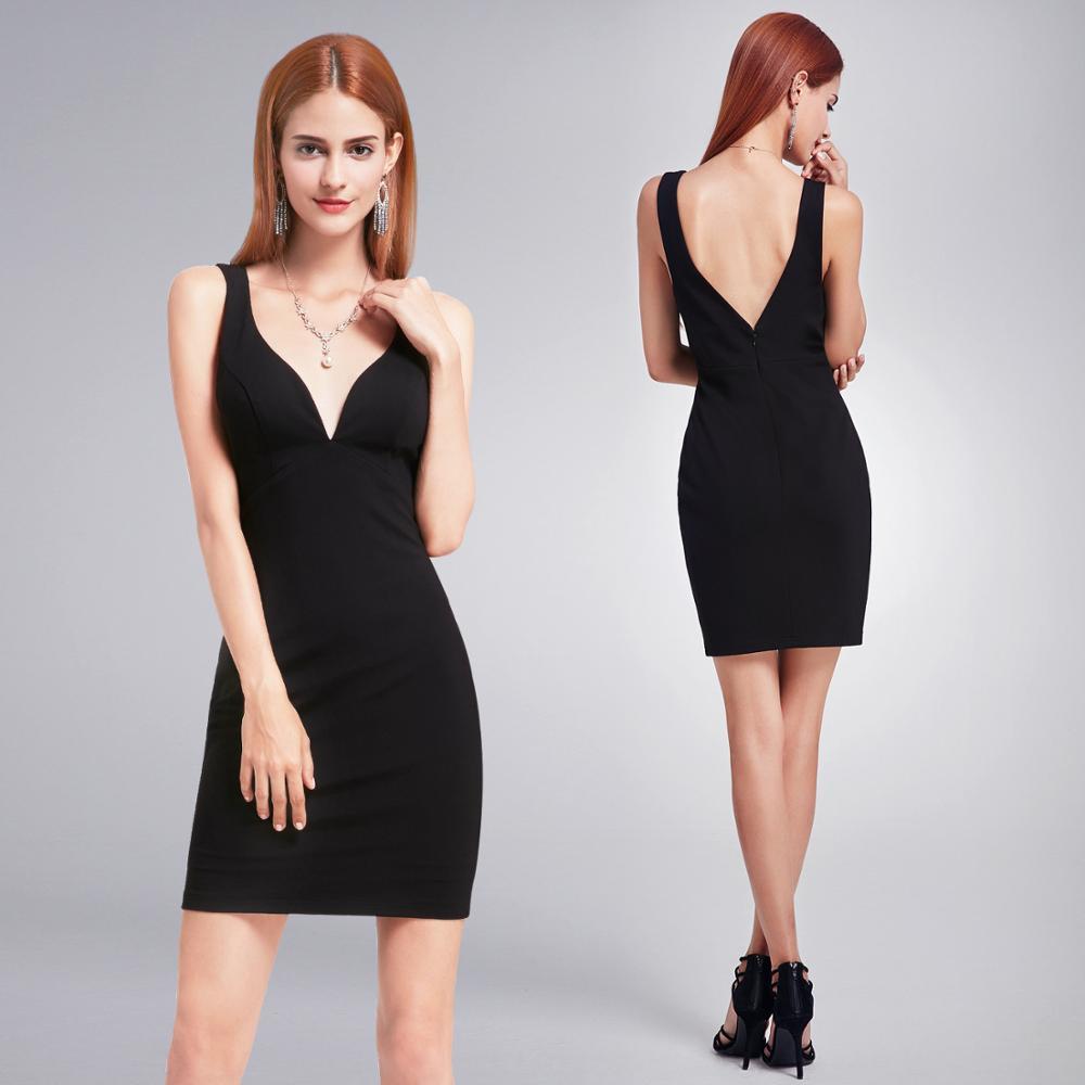 Robes de retour Sexy pour les filles 8th Grade robes de bal court noir robe de soirée de retour robe formelle robes de Gala élégantes 2020
