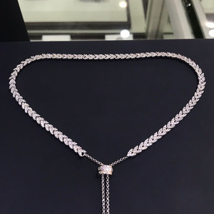 Image 1 - UMGODLY Luxus Marke Hohe Qualität Weiß Herz Weizen Ohren Halskette Micro Zirkonia Steine Frauen Mode Schmuck Neue Ankunft