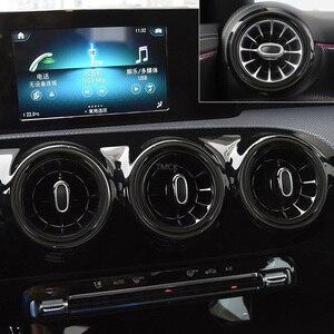 Автомобильная Центральная приборная панель Кондиционер Выход кольцо Накладка для Mercedes Benz CLA Class C118 CLA250 (только подходит CLA250) 2019 2020