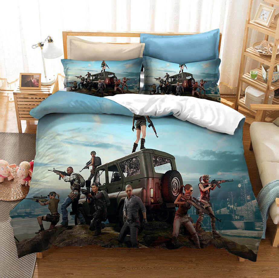 Gaming Games Pubg Bedding Set Bedroom Decor Boys Gift Hypoallergenic Quilt Cover 1pc Duvet Cover With Pillowcase Dropship Bedding Sets Aliexpress