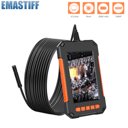 Industrial Endoscope Camera 1080P HD 4.3inch LCD Screen endoscope IP67 Waterproof borescope 8mm 8 LED lights Support TF Card