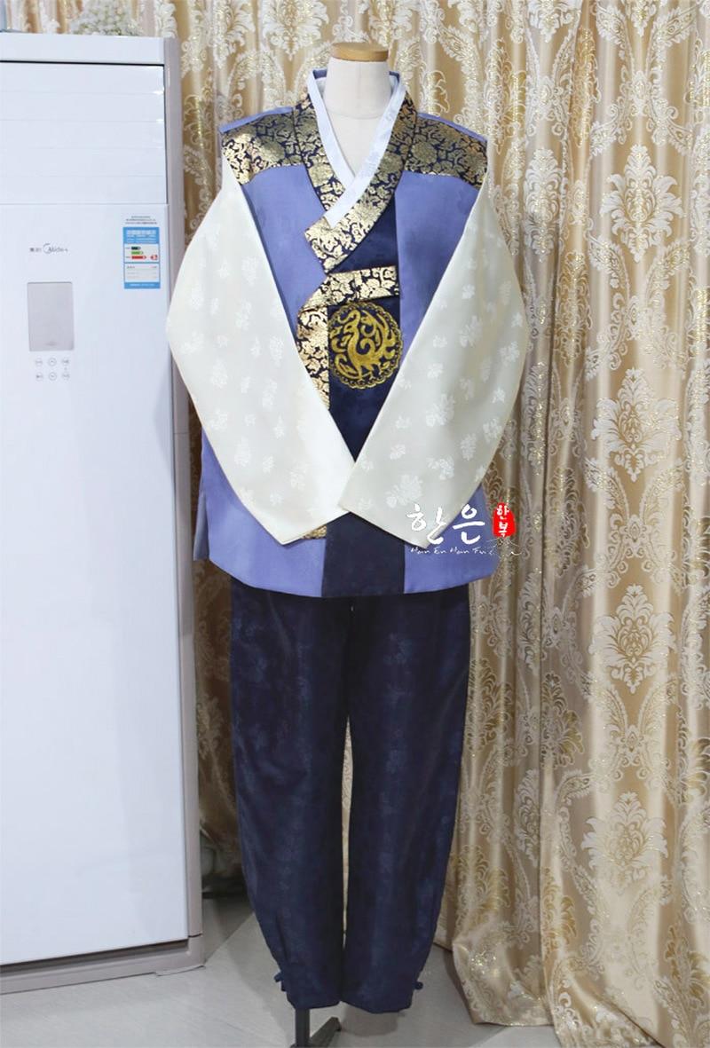 South Korea Imported Hanbok Fabric / Korean Korean Latest Men's Hanbok / Wedding Hanbok