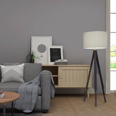 Minimalist Modern Pure Gray Plain Color Nonwoven Fabric Gum Wallpaper Bedroom Living Room Clothing Store Coffee Self-Adhesive Wa