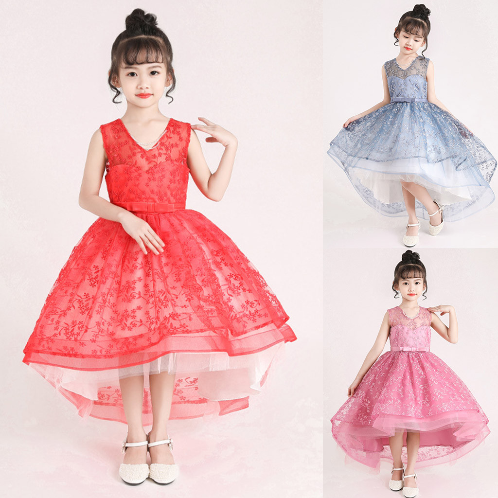 Flower Kid Girl Toddler Baby Princess Dress Party Pageant Wedding Formal Dresses