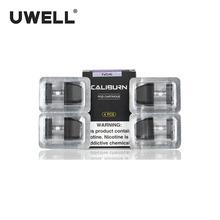 100 oryginalny 4 sztuk paczka UWELL Caliburn Pod kaseta 2ml Vape Pod dla zestaw Caliburn elektroniczny papieros Vape Pod tanie tanio UWELL Caliburn Pod Cartridge Z tworzywa sztucznego Nie-wymienne