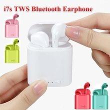 Alta qualidade i7s tws fones de ouvido sem fio bluetooth 5.0 fone preto/branco cor terno para samsung iphone fones