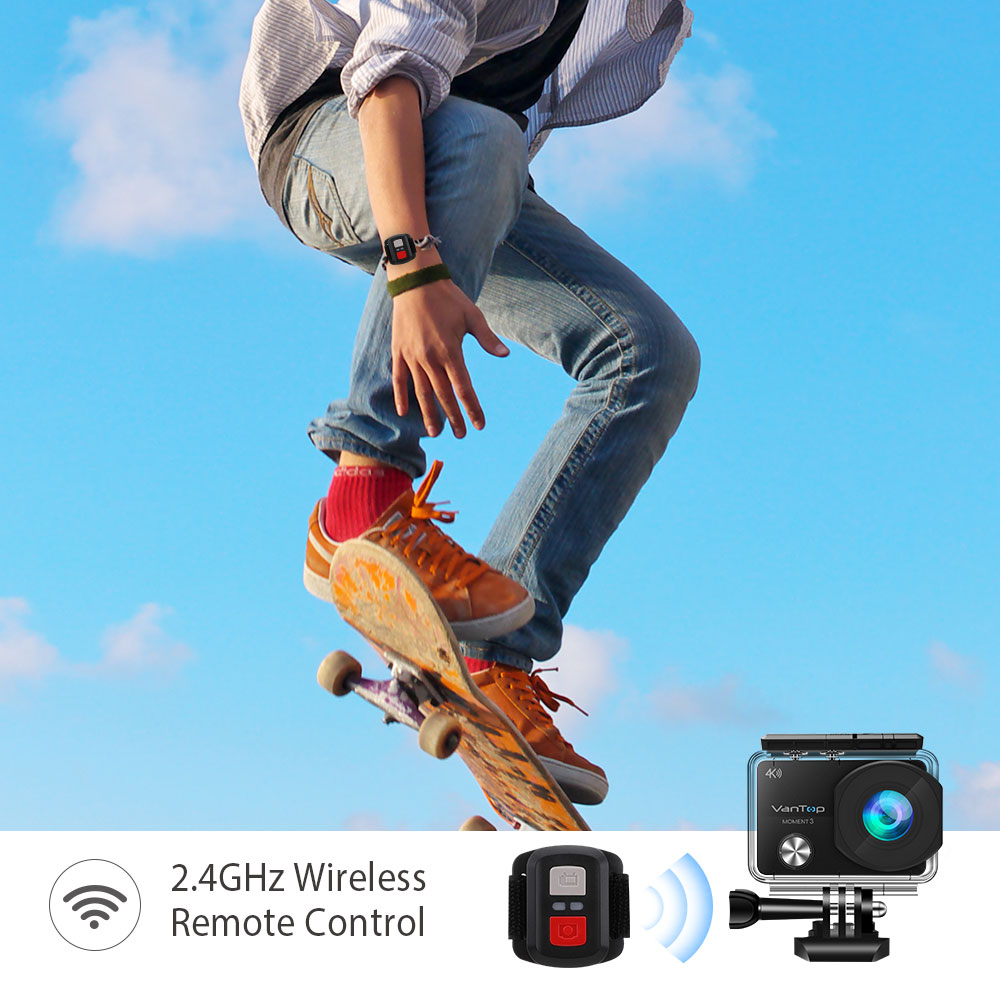 VanTop Moment 3 4K Action Camera Underwater Waterproof Camera  with 170° Wide Angle Outdoor Mini  WiFi Video Sports Mini Camera-2