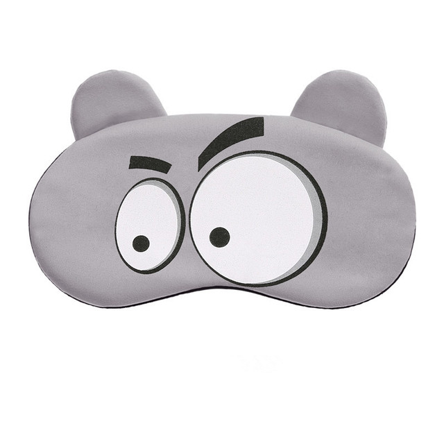 Cotton Cartoon Face Sleep Eye Mask Cute Funny Lovely Eye Cover Sleeping Mask Travel Rest Eye Band Kids Eye shade Patch Blindfold 2