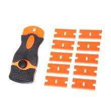 Winter Ice Scraper Vinyl Wrap Tool Razor with 10pcs Spare Blades Window Car Film Air Bubble Glue Remover Snow Shovel