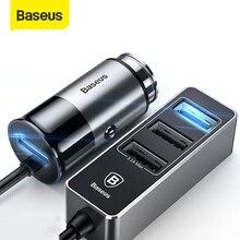 Baseus 4 порта USB Автомобильное зарядное устройство для iPhone X 8 7 6 Samsung Xiaomi автомобильное зарядное устройство для телефона с несколькими расширенными зарядными устройствами