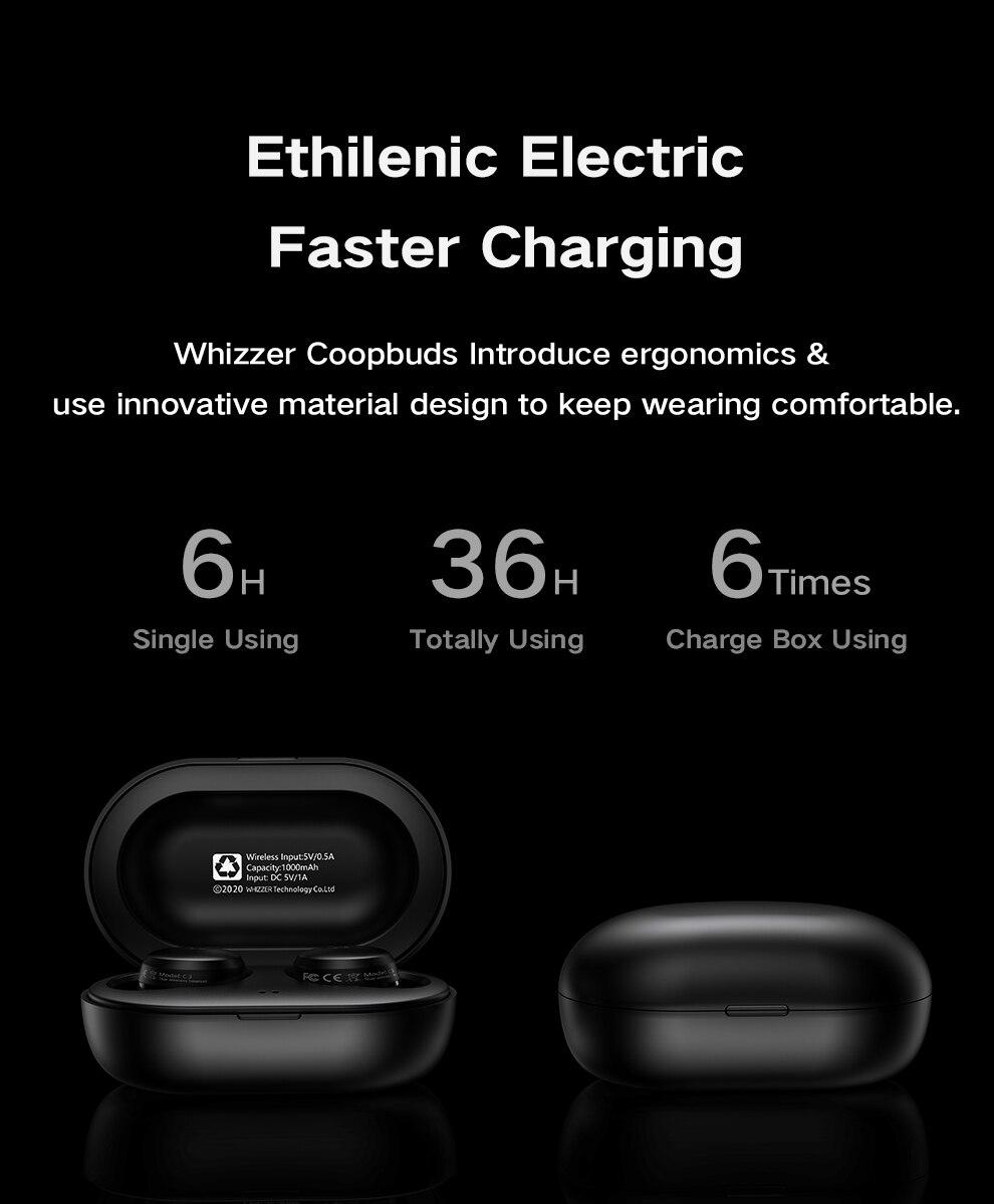 Whizzer C3 APTX TWS Wireless Earbuds 11