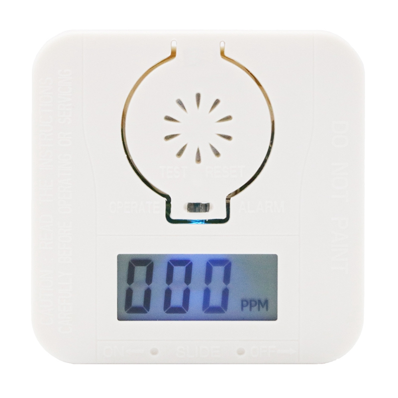 CO Carbon Monoxide Alarm Poisoning Gas Warning Sensor Security Poisoning Alarm LCD Photoelectric Detectors