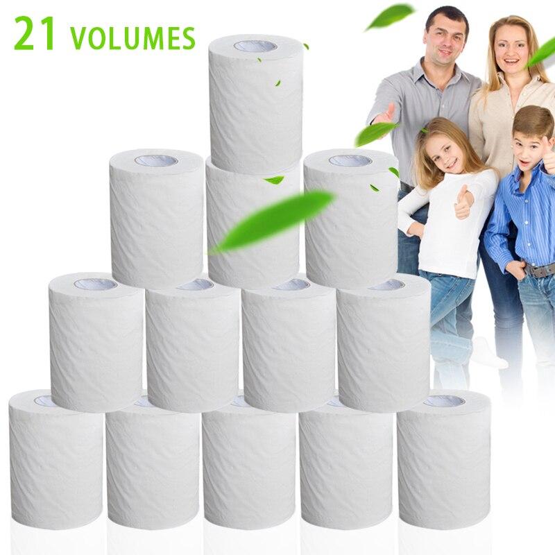 21 Rolls Toilet Paper Bulk Roll Bath Tissue Bathroom White Soft 4 Ply For Home New FS99