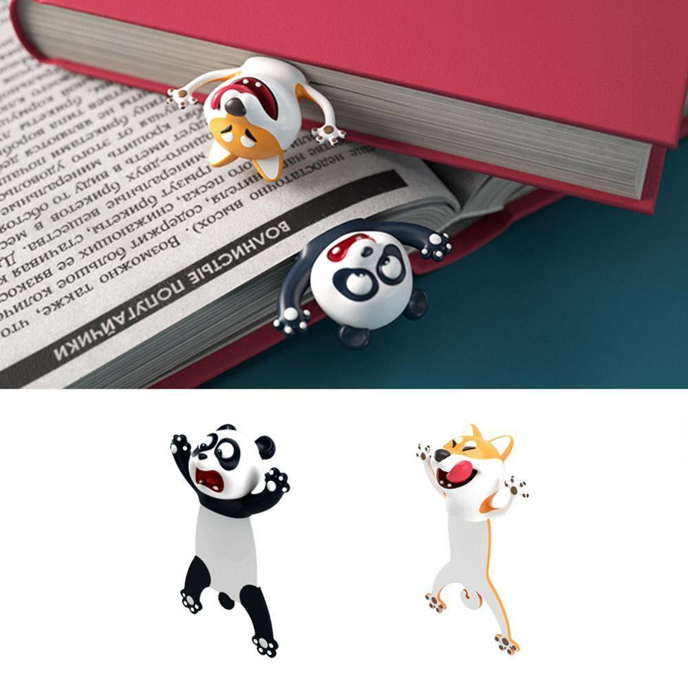 3D Stereo Bookmark, Cartoon Novelty Animal Bookmark Original Cute PVC Party Favors Birthday Students Teens Gift For Reading