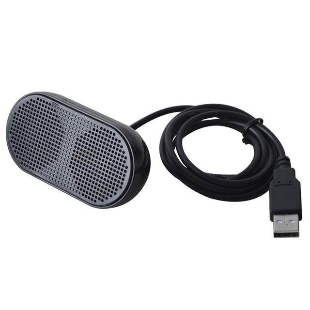 USB Haut Parleur Portable Haut Parleur Stéréo Haut Parleur Multimédia pour Ordinateur Portable PC Portable (Noir)