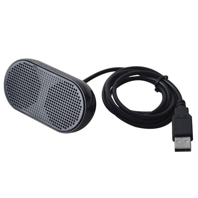 USB Lautsprecher Tragbare Lautsprecher Powered Stereo Multimedia Lautsprecher für Notebook Laptop PC (Schwarz)