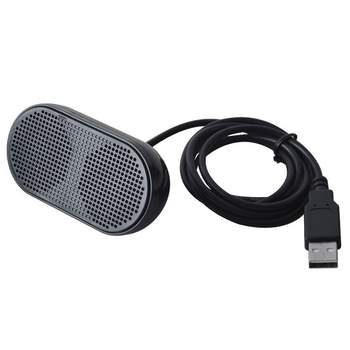 USB Speaker Portable Loudspeaker Powered Stereo Multimedia Speaker for Notebook Laptop PC(Black)