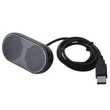USB רמקול נייד רמקול מופעל סטריאו מולטימדיה רמקול למחשב נייד מחשב נייד (שחור)