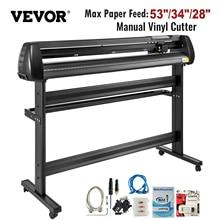 """VEVOR 53""""/34""""/28"""" Manual Vinyl Cutter Plotter Machine with COMPIM/USB Ports SIGNMASTER for Advertisement Craft Design Cut Etc."""