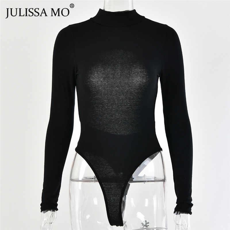 Julissa mo black backless 섹시한 여성 바디 슈트 긴 소매 bodycon jumpsuit rompers 여성 캐주얼 스키니 basic tops body mujer