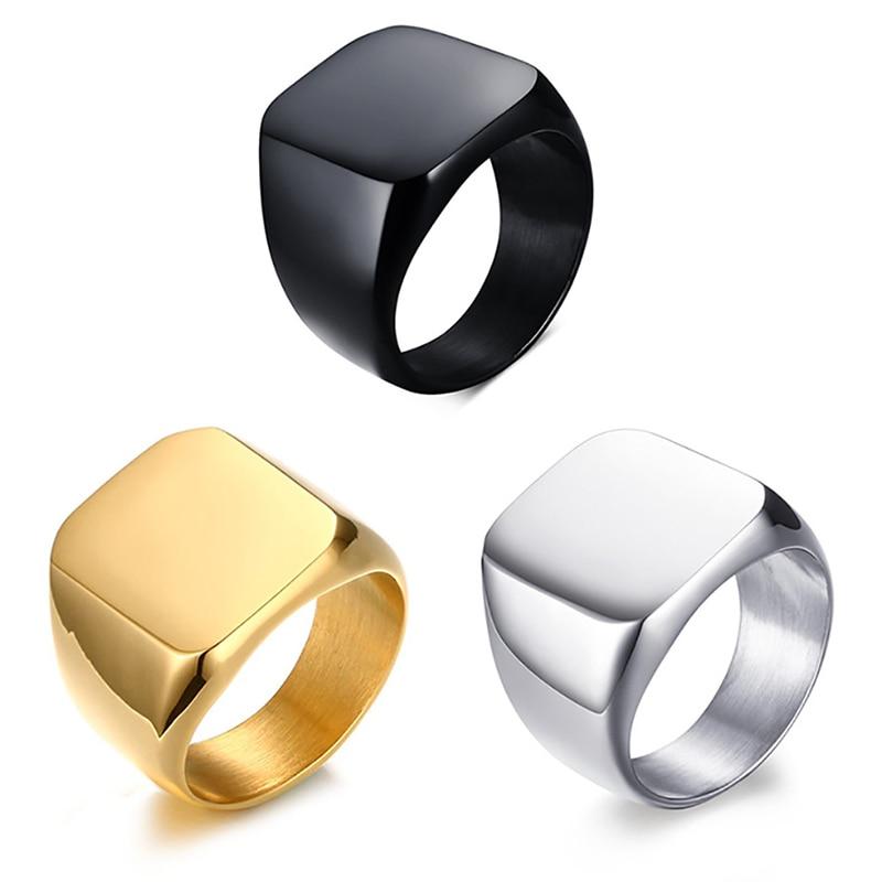 Мужское кольцо из нержавеющей стали с геометрическим рисунком