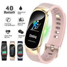 LIGE Women Smart Bracelet New Sports Fitness Tracker LED Waterproof Smart Wristband Heart Rate Monitor Bluetooth For Android ios цены онлайн