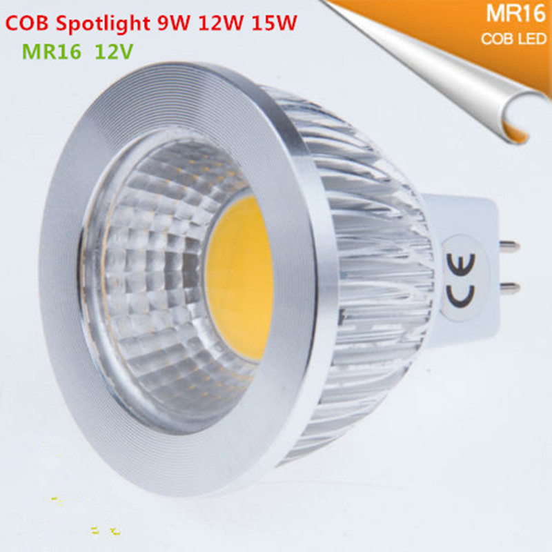 10pcs Super deal MR16 COB 9W 12W 15W <font><b>LED</b></font> Light Bulb MR16 <font><b>12V</b></font>, Warm White / Pure / Cold White <font><b>led</b></font> LIGHTING image