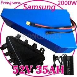 Charge libre 52V 13Ah 15Ah 18Ah 20Ah 22Ah 25Ah 30Ah 35Ah batterie au Lithium e-bike pour batterie Triangle 48 V/52 V 2000W avec chargeur BMS +