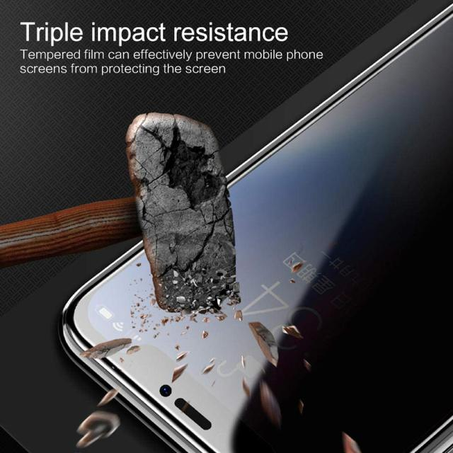 1-3Pcs Privacy Tempered Glass Screen Protector for IPhone 12 11 Pro 6s 7 8 Plus Anti-spy Glass for IPhone XS MAX X XR 2