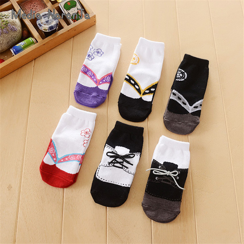 Japanese Kimono Socks Baby Socks Anti-slip Socks Spring And Autumn Winter Fake Shoes Socks-two Pairs/bag