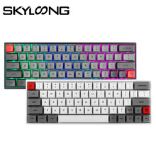 SKYLOONG SK64 Teclado mecánico intercambiable con retroiluminación RGB teclado inalámbrico Bluetooth para juegos, teclas ABS para Win/Mac GK64