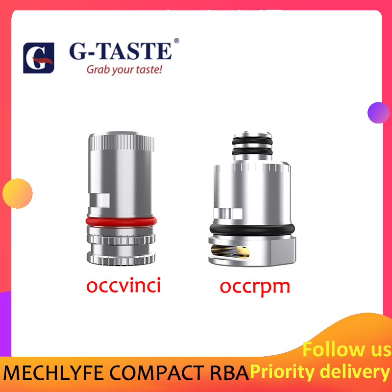 1pcs/pack Electronic Cigarette Accessories G-taste MECHLYFE COMPACT RBA Atomizer Cores For VOOPOO Vinci And Vinci X