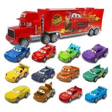 7 Cái/bộ Disney Pixar Car 3 Jackson Bão McQueen Lightning Cruz Mack Bác 1:55 Diecast Xe Tải Xe Ô Tô Mô Hình Đồ Chơi trẻ Em Giáng Sinh