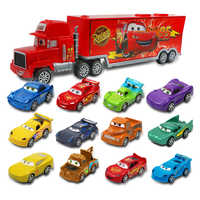 7 pz/set Disney Pixar Car 3 Jackson Tempesta McQueen Fulmine Cruz Lo Zio 1:55 Diecast Camion Mack Giocattoli Modello di Auto per bambini Di Natale