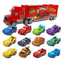 Juego de 7 unidades de Disney, coche de Pixar 3, Jackson Storm McQueen, rayo Cruz Mack, tío 1:55, camión fundido a presión, modelo de coche, juguetes para niños, navidad