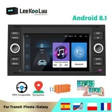LeeKooLuu 2 din Car Radio GPS Navigation Android 8.1 Multimedia Player For Ford Focus 2 Mondeo S C Max Kuga Fiesta Fusion