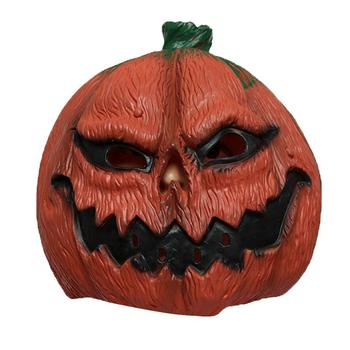 1 pc Halloween Mask Latex Durable Pumpkin Head Horrible Performance Props Headgear Party Mask for Masquerade Carnival